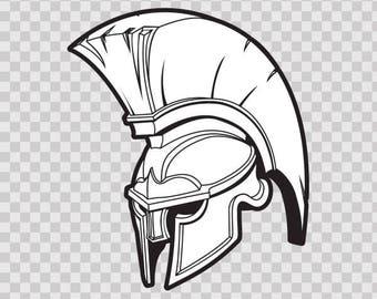 Decal Stickers Spartan Roman warrior Helmet Store Weatherproof 10105