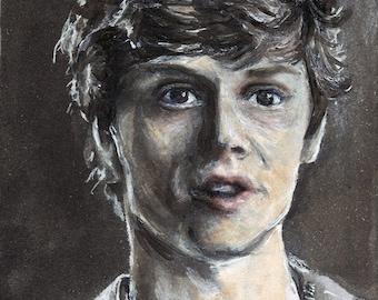 Evan Peters as Kit Walker American Horror Story Asylum Copic Marker Drawing Art Print  11.7 x 16.5 inches