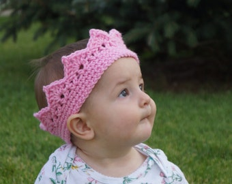 Crochet Crown, Princess Crown, Crocheted Crown, Custom Crown, Photo Prop, Baby Crown, Baby Gift, Gifts for Children, Costume, Baby Crochet