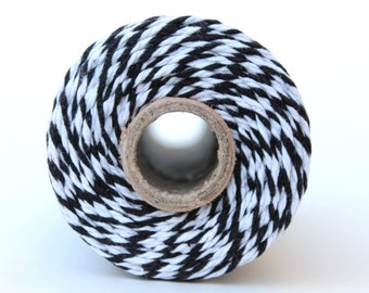 12 Ply Black Bakers Twine 100 yard spool 12 Ply Thick Cotton String- Birthday Baby Shower Wedding