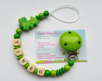 Green train pacifier