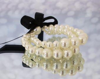 SAMPLE SALE: Wedding Bracelet, Wedding Jewelry, Pearl Wedding Accessories, Pearl Bracelet, Ivory Pearl Wedding, Jewelry Wedding, Pearls