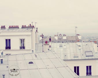 travel photography, paris photo, paris france print, home decor, wall art, gifts for her, fine art photography, white, grey, architecture