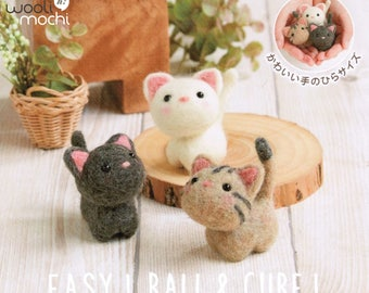 Cutie Trio - Kittens Needle Felting Kit