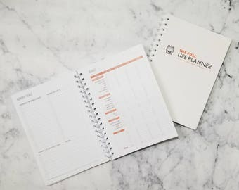 The Full Life Planner | Monthly Goals | Meal Planning | Pantry List | Family Budget | Undated, 6x9