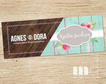 Agnes and Dora Facebook Cover Photo, Rustic Wood Marketing Kit Consultant FB Shop Cover Banner, Online Sign Shabby Chic DIGITAL FILE For Web