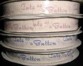 Cute As A Button Ribbon
