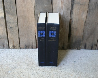 Set of Two Vintage Charles Dickens Books Oliver Twist & David Copperfield - Classic Novel - Classic Literature