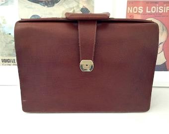 Binder, door documents, laptop cases. Briefcase 1960s leather teacher. Vintage