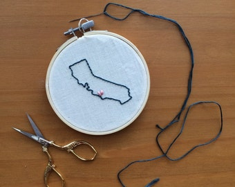 Custom Location Embroidery Hoop
