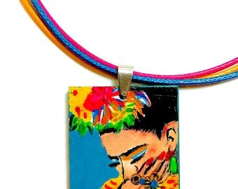 Frida Kahlo Frida Kahlo Wooden Pendant & Necklace