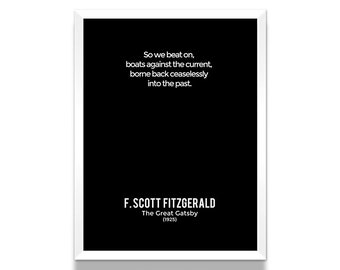 Great Gatsby Poster, Art Print, Literary Gifts, Book Lover Gift, Bookish, Wall Art Prints, Wall Decor, Minimalist Poster