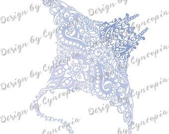 Manta ray zendoodle plot