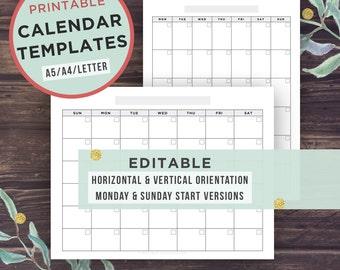 digital calendar templates