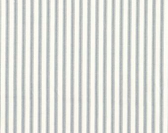 Round Tablecloth Dove Gray Ticking Stripe
