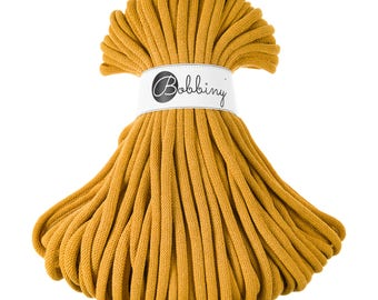 9mm Cotton Cord 54 yards (50 meters) - Mustard; giant macrame cord, chunky yarn, cotton rope, macrame string