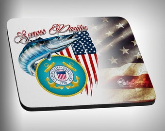 Coast Guard Armed Forces Mouse Pad Custom Graphic Novelty Mousepad Great Gift Customized Personalized