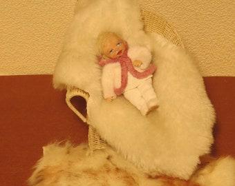 OOAK MIniature Toddler Girl Doll 1:12 scale Artist Handmade