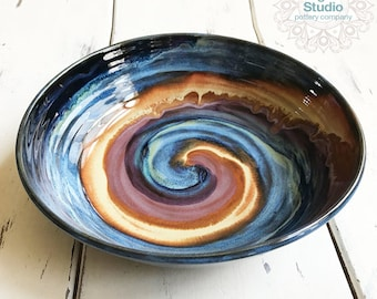 Large Ceramic Serving Bowl, Unique Housewarming Gift, Pottery Serving Bowl