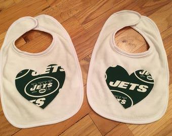 New York Jets Heart Bib