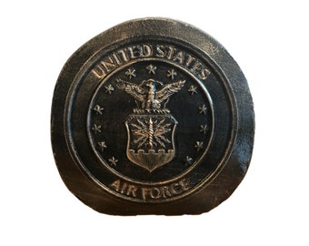 AIR FORCE standing rock, us air force, standing rock, concrete rock, air force, air force memorabilia, military, veteran, air force decor