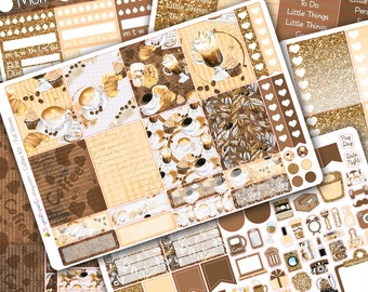 Coffee DELUXE Weekly Planner Sticker Kit