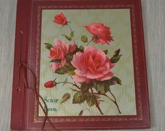 Vintage Scrap Book with Roses Unused