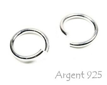X 5 rings open Silver 925 7 mm