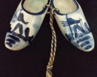 Vintage DELF Wooden Shoes