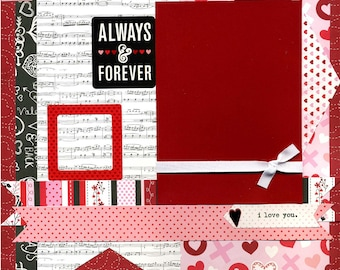 Always & Forever - Premade Scrapbook Page