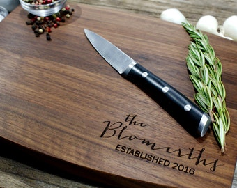 Personalized cutting board-30, Engraved cutting board,Personalized wedding gift,wedding gift for couples, housewarming gift, engagement gift