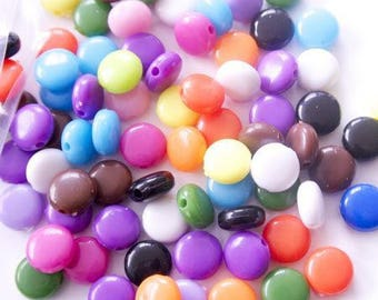 25 pastilles color matching, 8 mm beads