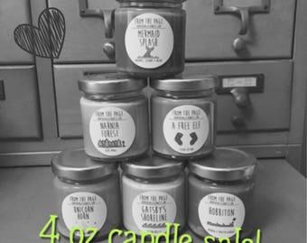 4 oz candles - Sale!