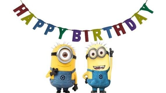 Minion Birthday Card Minion Movie Instant Download Digital