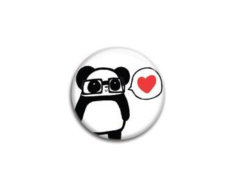 Nerdy Panda Love Pinback Button