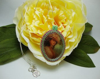Pendant with Victorian Lady