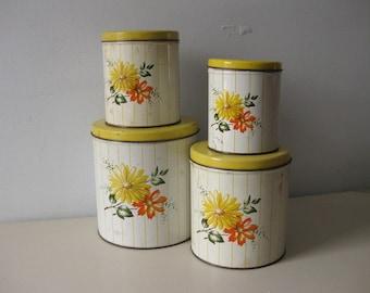 Vintage 1950s canister set Decoware canister set
