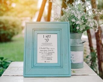 No. G1 | 8 x 6 Printable Template | I SPY Wedding Game