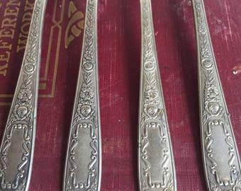 Vintage Mildred Silverplate Forks Monarch 1936 Pretty Dinner Forks