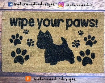Wipe Your Paws   Personalized Rug  Custom Doormat