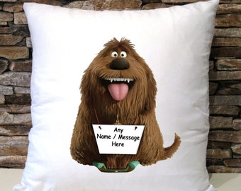 Personalised Duke Secret Lives Of Pets Cushion Cover Birthday Christmas Gift Present Pillow Case