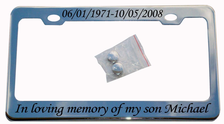 In liebevoller Erinnerung Metall Nummernschild Rahmen