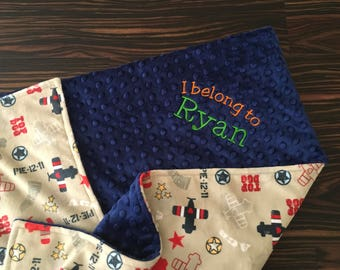 Airplane baby gift etsy airplane baby blanket personalized baby blanket minky baby blanket embroidered baby blanket negle Gallery