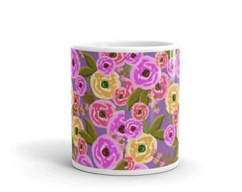 Purple Petals Mug