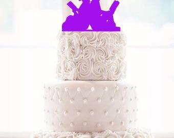 Wedding Cake Topper Couple Reading Cake Bride and Groom Reading Wedding Topper couple reading topper bride reading cake groom reading weddin