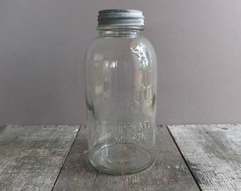 Vintage Half-Gallon Presto Jar with Zinc Lid / Vintage Jar with Zinc Lid / Vintage Mason Jar