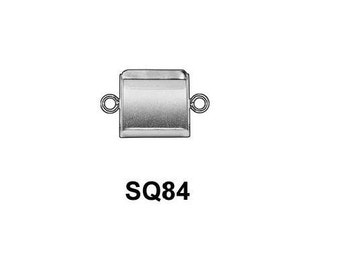 6pcs x Square 8x8mm Bezel Cup Sterling Silver 925 (SQ84)