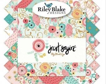 Riley Blake Designs- Just Sayin'- Fat Quarter Bundle