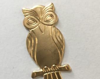 Modern Brass Owl  (2 pc)