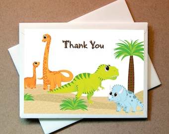 Dinosaur Thank You Cards (24 cards and envelopes)